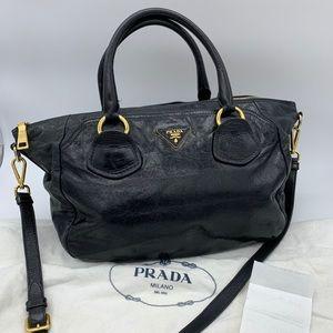 Prada black leather Tote